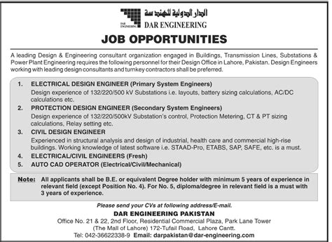 design engineer government jobs find all government private jobs in pakistan jang