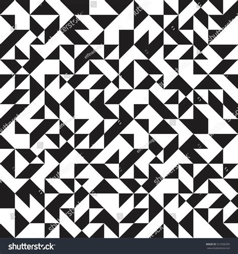 black and white random pattern abstract geometric pattern black white random stock vector