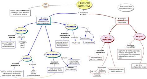 domande sull alimentazione mappa concettuale principi nutritivi mappa concettuale per