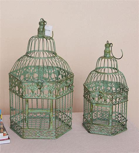 bird home decor 2pcs set large bird cage wedding decorative antiqued