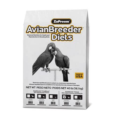 Zupreem Avianbreeder Avian Breeder Extrud 233 S 201 Levage Zupreem Avian Breeder Fruitblend Grandes