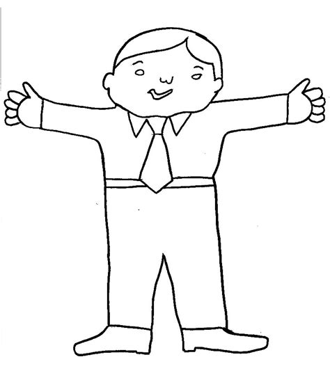 free coloring pages of flat stanley girl color