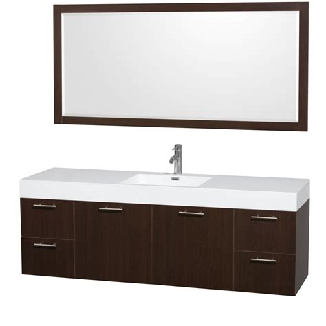 Bathroom Vanities Free Shipping Amare 72 Quot Wall Mounted Single Bathroom Vanity Set With Integrated Sink By Wyndham Collection
