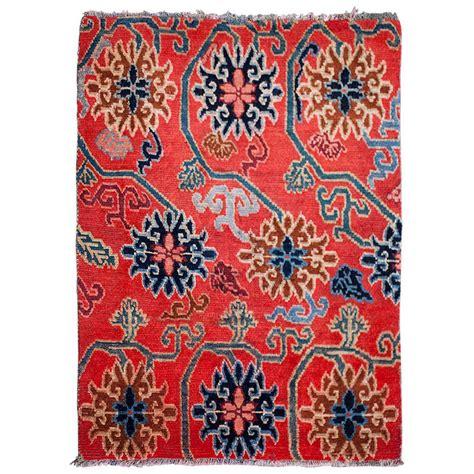 flower design rugs elegant antique tibetan lotus flower design rug at 1stdibs