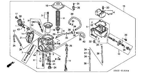 honda foreman 400 parts diagram honda foreman carburetor diagram car interior design