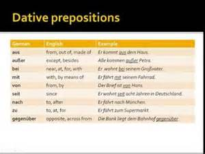 german dative prepositions