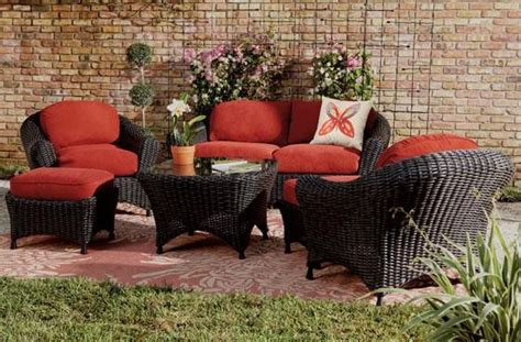 martha living patio furniture martha stewart living lake adela six seating set