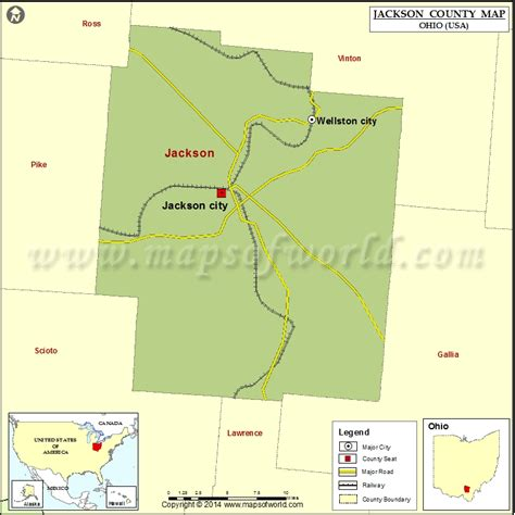 jackson usa maps jackson county map map of jackson county ohio