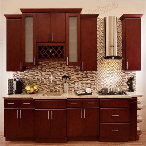 Lemari Perabot Dapur Desain Modern Dengan Warna Lemari Dapur Kayu Solid Gaya