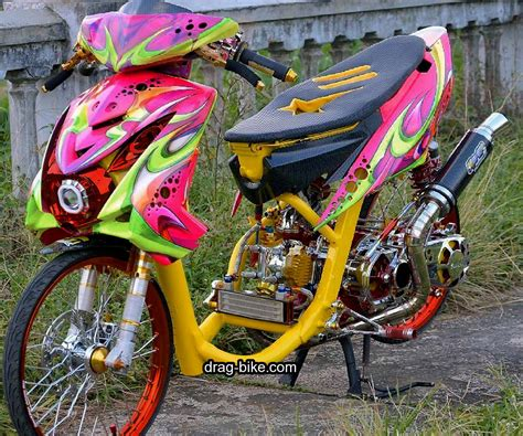 Gambar Motor Drag Mio by 35 Foto Gambar Modifikasi Mio Soul Gt Thailook Airbrush