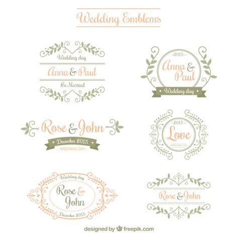 Wedding Vector Free ornamental wedding emblems vector free