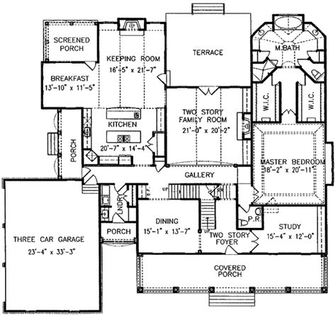 large country home plan 15778ge architectural designs
