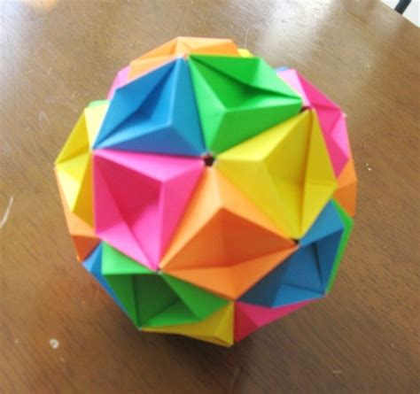 Classic Origami - traditional origami kusudama by gildedfox on deviantart