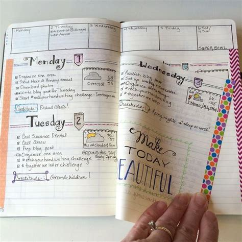 bullet journal exles showing you how to use the dutch door system in your