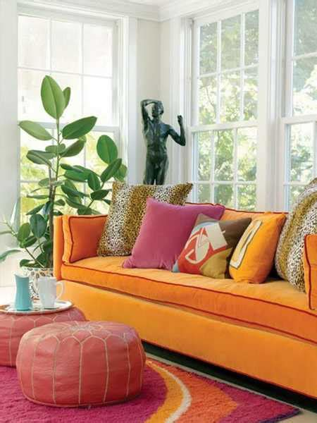 orange sofa decorating ideas orange color shades and modern interior decorating color