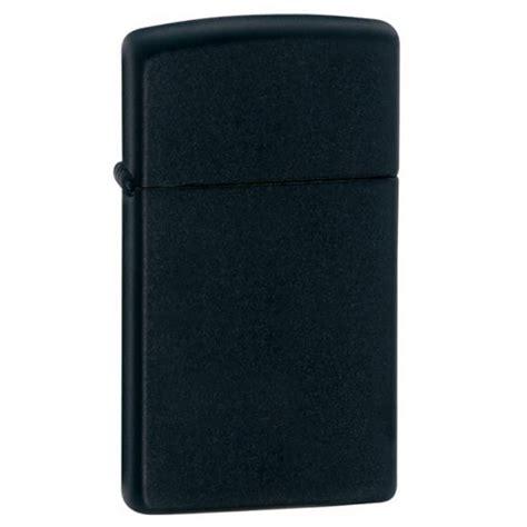 zippo black matte zippo slim black matte 1618