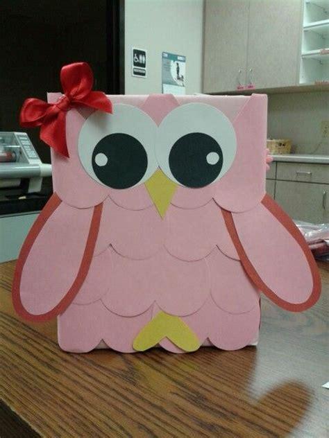valentines box ideas box valentines and owl on