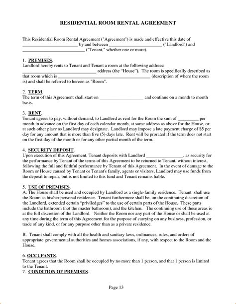 housing agreement template 3 house rental agreement teknoswitch
