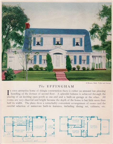 dutch colonial home plans the 1929 effingham dutch colonial revival attached