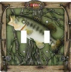 bass fishing home decor wood shelf largemouth bass cabin or lodge decor fishing