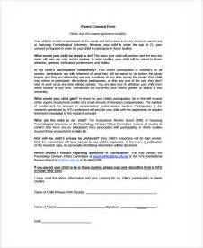 Psychological Study Template by Sle Psychology Consent Form 7 Free Documents