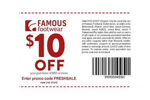 famous footwear coupon code feb 2018