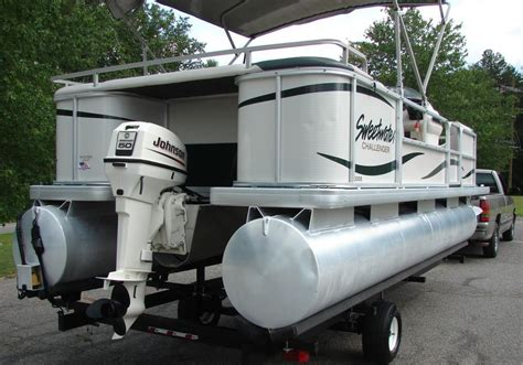 used pontoon boats for sale washington state 2003 sweetwater challenger 200es 20ft pontoon w trailer