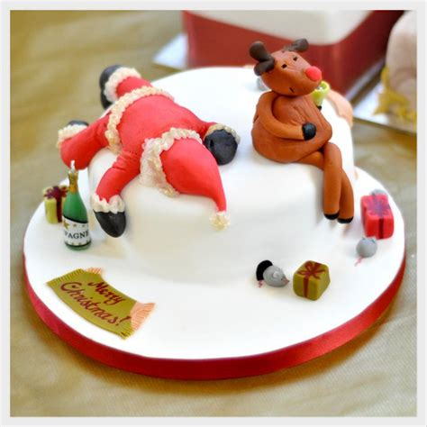 decorate christmas cake without icing images