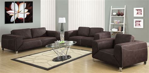 suede living room furniture chocolate brown micro suede living room set from monarch