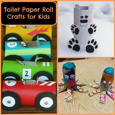 Free Toilet Paper Roll Crafts - get crafty with these toilet paper roll crafts for