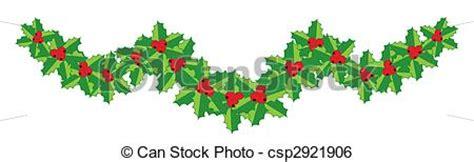 christmas holly garland   design