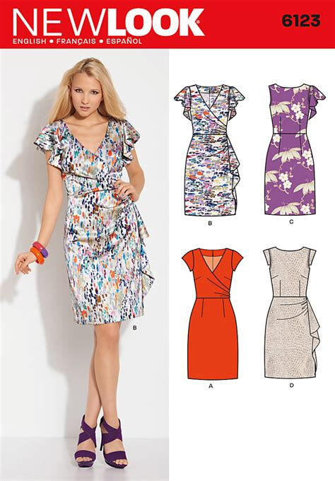 pattern new look new look 6123 misses dress