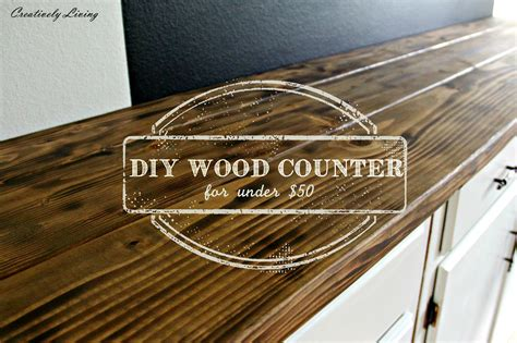 Having A House Built by Torched Diy Rustic Wood Counter Top For Under 50 By