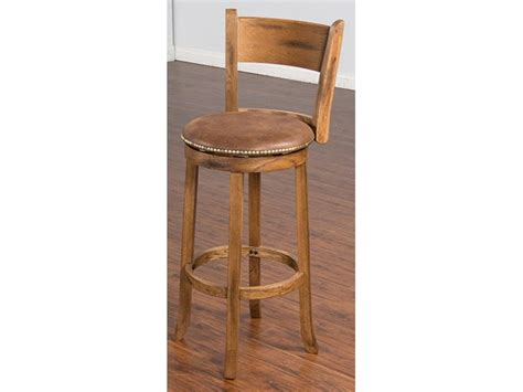 sunny designs swivel bar stool sedona w back su 1883ro sunny designs bar and game room swivel stool with back