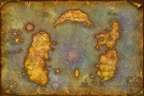 Map Of World Of Warcraft by The Monday Map Video Games Maps Hejorama
