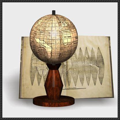 Papercraft Globe - waldseemuller globe free papercraft