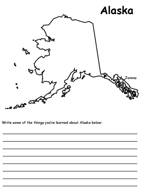 printable map of alaska for kids