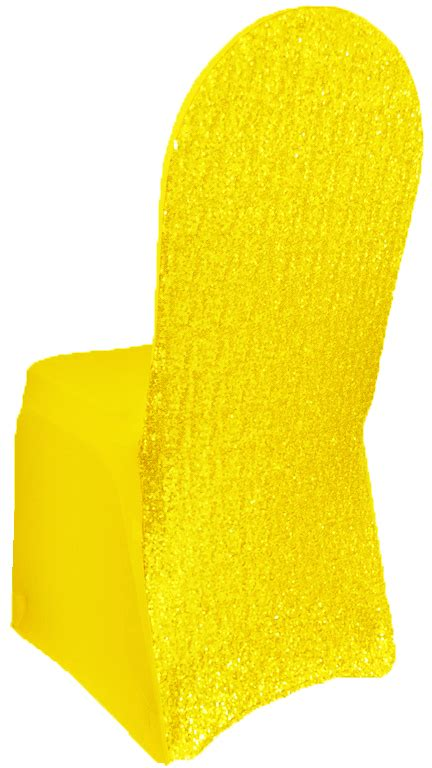 Yellow Chair Covers by Canary Yellow Sequin Spandex Chair Covers Wholesale