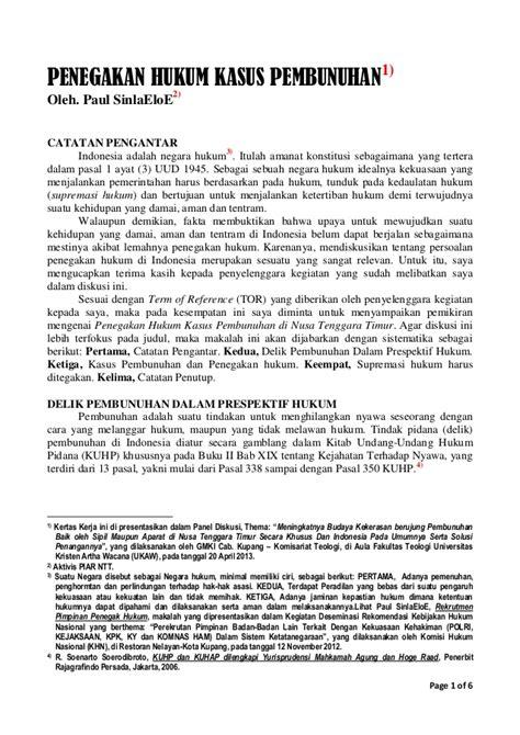 penegakan hukum di indonesia upload share and discover penegakan hukum kasus pembunuhan