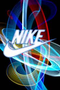 nike color nike logo color light beams swoosh nike