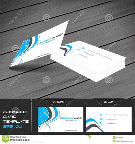 front and back business cards templates business card or visiting card template stock vector