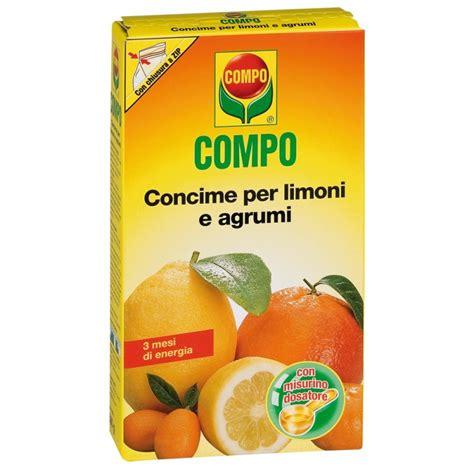 concimi per limoni in vaso concime per limoni e agrumi granulare a lenta cessione compo