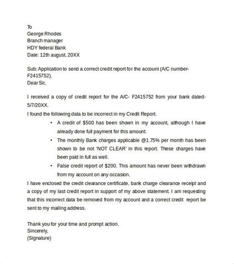 Amazing Credit Dispute Letter Templates Letter Format Writing Credit Dispute Template