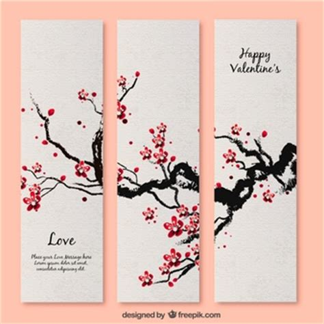 Cherry Blossom Tree Card Template by Japanese Garden Vectors Photos And Psd Files Free