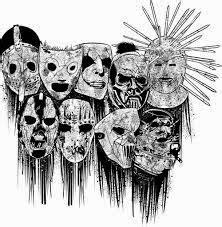 desenhando  lapis slipknot metal arte