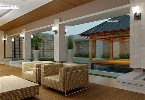 gambar desain villa bali desain villa bali 1 lantai i teras rumah taman kolam