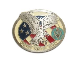 Quot United States Army Quot Heavy Cast Epoxy Inlay Buckle Eb2255