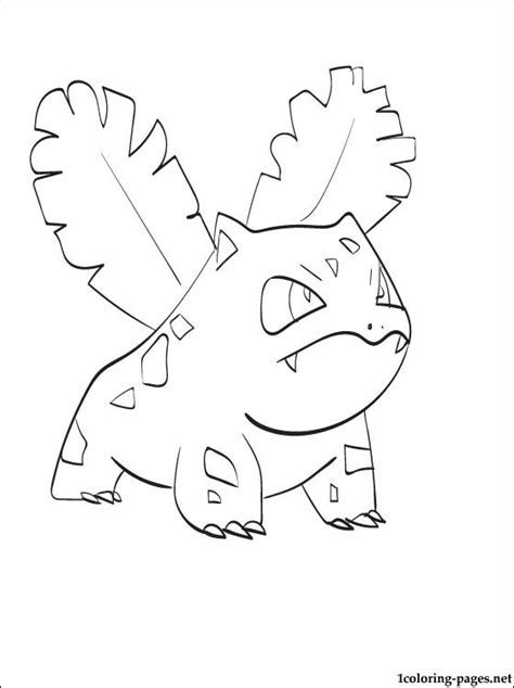 pokemon coloring pages ivysaur coloring pokemons page ivysaur coloring pages