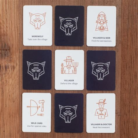 printable werewolf cards an illustrated version of the classic party game werewolf