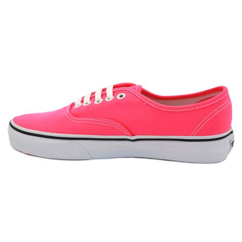 vans authentic njv5ku womens canvas laced trainers pink ebay